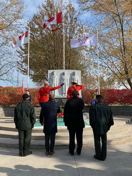 Laying the Wreath in Belle River