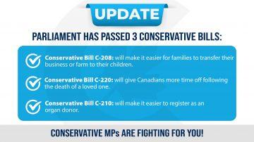 Three Bills Passed Today