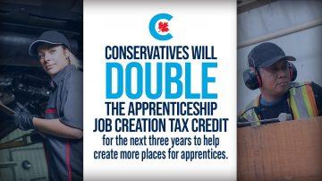 Conservatives will Support Apprenticeship Job Creation