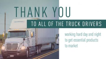 Thank You Truck Drivers!