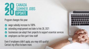 Canada Summer Jobs Update