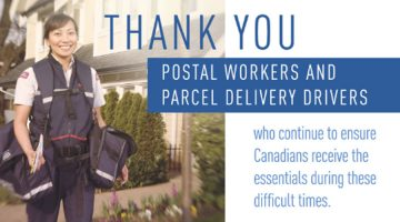 Thank You Postal Workers and Parcel Delivery Drivers