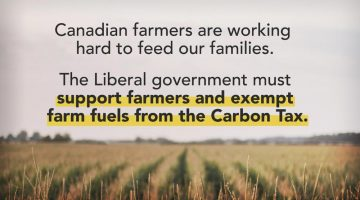 Canadian Farmers Should be Exempt From the Carbon Tax
