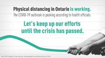 Physical Distancing is Working in Ontario!