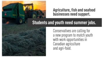 Conservatives Call for Program that Benefits Youth & Agriculture Sector