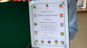 Congratulations to Brian's Custom Sports and the Sewing Team!
