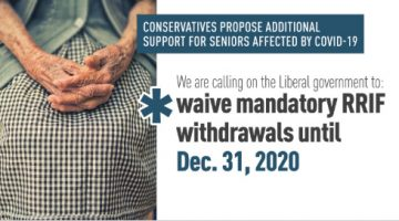Conservatives Propose Additional Support for Seniors Affected by COVID-19