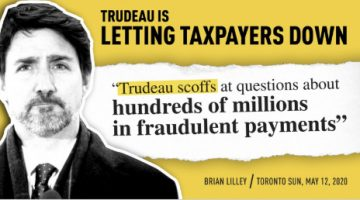 Just Trudeau is Letting Taxpayers Down